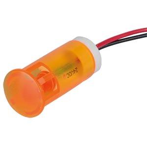 Signalleuchten LED, 24V DC, 12mm, Kabel, orange APEM QS123XXO24