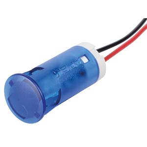 Indicator LED, 12 V DC, 12 mm, wired, blue APEM QS123XXB12
