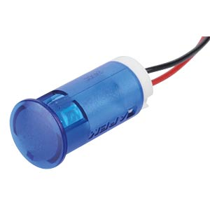Indicator LED, 24 V DC, 12 mm, wired, blue APEM QS123XXB24