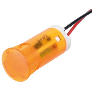 Indicator LED, 220 V AC, 12 mm, wired,  orange APEM QS123XXHO220