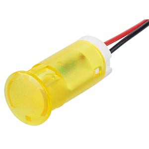 Indicator LED, 220 V AC, 12 mm, wired,  yellow APEM QS123XXHY220