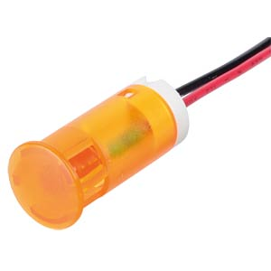 Signalleuchten LED, 12V DC, 12mm, Kabel, orange APEM QS123XXO12