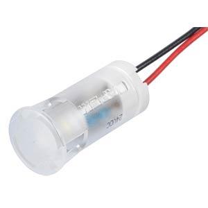 LED-Signalleuchte, weiß, 24 V, Ø 12 mm, rund, bedrahtet APEM QS123XXW24