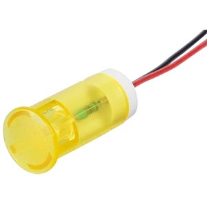 Indicator LED, 24 V DC, 12 mm, wired, yellow APEM QS123XXY24