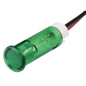 Signalleuchten LED, 24V DC, 6mm, Kabel, gn APEM QS63XXG24