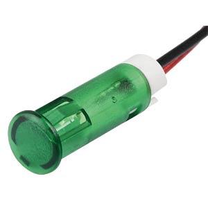 LED-Signalleuchte, grün, 24 V, Ø 6 mm, rund, bedrahtet APEM QS63XXG24