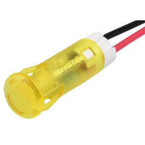 Indicator LED, 24 V DC, 6 mm, wired, yellow APEM QS63XXY24