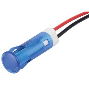 Indicator LED, 24 V DC, 8 mm, wired, blue APEM QS83XXB24