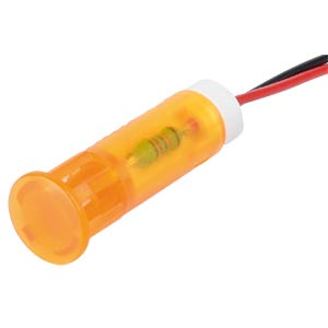 Signalleuchten LED, 220V AC, 8mm, Kabel, orange APEM QS83XXHO220
