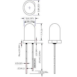 LED, 5 mm, bedrahtet, blau / grün, 30000 mcd , 20° RND COMPONENTS RND 135-00037