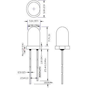 LED, 5 mm, bedrahtet, grün, 40000 mcd , 15° RND COMPONENTS RND 135-00038
