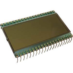 LCD-7-Segment, 1x3 + SZ, H:12,7mm DISPLAY ELEKTRONIK DE 114-RS-20/6,35