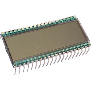 LCD-7-Segment, 1x3 + SZ, H:8,9mm DISPLAY ELEKTRONIK DE 151-RS-20/7,5
