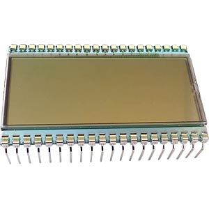 LCD-7-Segment, 1x4 + SZ, H:10,2mm DISPLAY ELEKTRONIK DE 159-RS-20/7,5