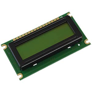 LCD-Modul, 1x8, H:7,9mm, ge/gn, m.Bel. DISPLAY ELEKTRONIK DEM 08171 SYH-LY
