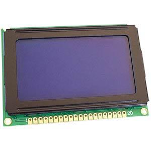 LCD-Grafikdisplay, 128x64 Pixel, bl/ws, m.Bel. DISPLAY ELEKTRONIK DEM 128064B SBH-PW-N