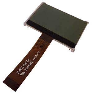 LCD-Grafikdisplay, 128x64 Pixel, sw/ws, m.Bel. DISPLAY ELEKTRONIK DEM 128064J FGH-PW