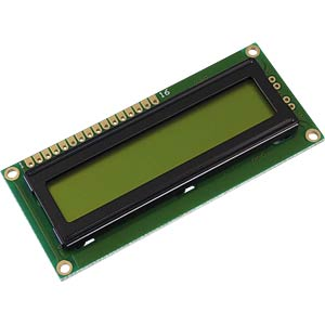 LCD-Modul, 1x16, H:6,0mm, ge/gn DISPLAY ELEKTRONIK DEM 16101 SYH