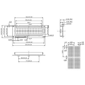 LCD-Modul, 2x16, H:9,6mm, ge/gn, m.Bel. DISPLAY ELEKTRONIK DEM 16215 SYH-LY