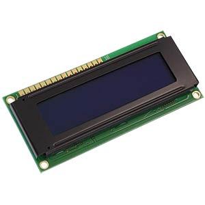 LCD-Modul, 2x16, H:9,6mm, bl/ws, m.Bel. DISPLAY ELEKTRONIK DEM 16216 SBH-PW-N