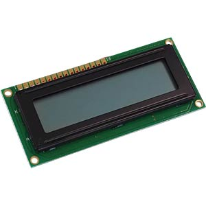LCD-Modul, 2x16, H:5,6mm, sw/gr DISPLAY ELEKTRONIK DEM 16216 SGH