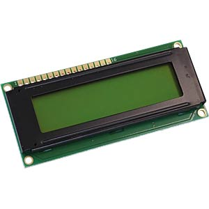 LCD-Modul, 2x16, H:5,6mm, ge/gn, m.Bel. DISPLAY ELEKTRONIK DEM 16216 SYH-PY