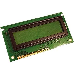 LCD-Modul, 2x16, H:5,6mm, ge/gn, m.Bel. DISPLAY ELEKTRONIK DEM 16217 SYH-LY-CYR22