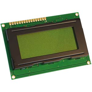 LCD-Modul, 4x16, H:4,8mm, ge/gn, m.Bel. DISPLAY ELEKTRONIK DEM 16481 SYH-LY