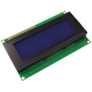 LCD-Modul, 4x20, H:4,8mm, bl/ws, m.Bel. DISPLAY ELEKTRONIK DEM 20485 SBH-PW-N