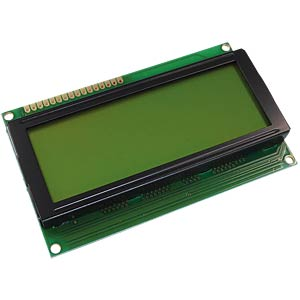 LCD-Modul, 4x20, H:6,4mm, ge/gn, m.Bel. DISPLAY ELEKTRONIK DEM 20486 SYH-LY