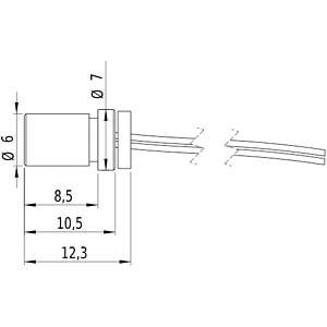 Punkt Lasermodul, rot, 650 nm, 3 VDC, 7x14 mm, Klasse 2 PICOTRONIC 70103069