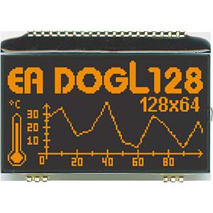LCD-Grafikmodul, 60,8 x 32,9 mm, schwarz ELECTRONIC ASSEMBLY EA DOGL128S-6