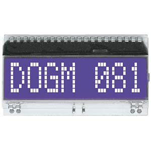 DOG-Serie 3,3V Hintergrund: blau ELECTRONIC ASSEMBLY EA DOGM081B-A