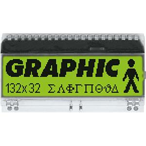 LCD-Grafikmodul, 51 x 15 mm, gelb / grün ELECTRONIC ASSEMBLY EA DOGM132L-5