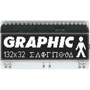 LCD-Grafikmodul, 51 x 15 mm, schwarz ELECTRONIC ASSEMBLY EA DOGM132S-5