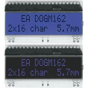 DOG-Serie 3,3V Hintergrund: blau ELECTRONIC ASSEMBLY EA DOGM162B-A