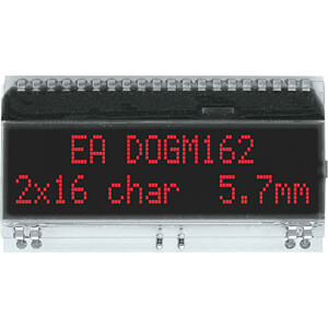 LCD-Textmodul, 48,3 x 12 mm, schwarz ELECTRONIC ASSEMBLY EA DOGM162S-A