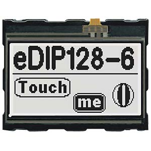 LCD-Display, 128 x 64 Pixel, sw-ws positiv, Touch ELECTRONIC ASSEMBLY EA EDIP128W-6LWTP