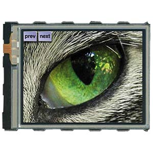 "Intelligentes TFT-Grafikdisplay 3,2"", weiß ELECTRONIC ASSEMBLY EA EDIPTFT32-A"