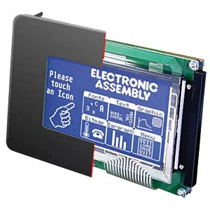 LCD-Grafikdisplay, 240x128 Pixel, bl/ws, m.Bel., touch ELECTRONIC ASSEMBLY EA KIT240-7LWTK
