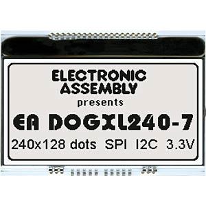 Grafik-Modul, 240x 128, Weiß nicht beleuchtbar ELECTRONIC ASSEMBLY EA DOGXL240N-7