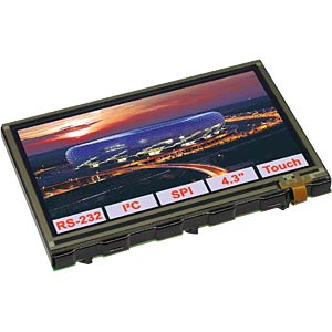 TFT-Grafikdisplay 10,9cm 480x272 mit Intelligenz ELECTRONIC ASSEMBLY EA EDIPTFT43-ATP