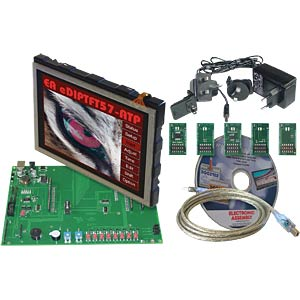 "Starter kit with 14.5-cm (5.7"") TFT, touch ELECTRONIC ASSEMBLY EA EVALEDIPTFT57"