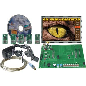 "Starter kit with 17.8-cm (7"") TFT, touch ELECTRONIC ASSEMBLY EA EVALEDIPTFT70"