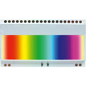LED lighting  for EA DOGM… Colour: multi-coloured ELECTRONIC ASSEMBLY EA LED55X31-RGB