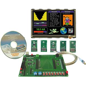"Starter kit with 10.9-cm (4.3"") TFT, touch ELECTRONIC ASSEMBLY EA EVALEDIPTFT43"