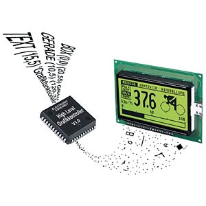 Grafikcontroller für 128x64 Pixel Displays mit HD 61202 ELECTRONIC ASSEMBLY EA IC202-PGH