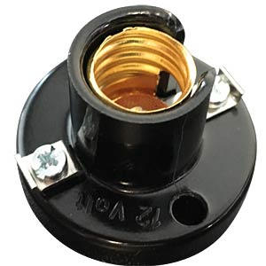 Illu-Fassung E14 , Kunststoff, schwarz BARTHELME 419203