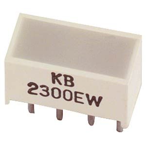 Flat-LED, 5 x 10 mm, green KINGBRIGHT KB-2500SGW