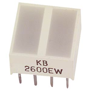 Flat LED, 10 x 10 mm, yellow KINGBRIGHT KB-2700YW